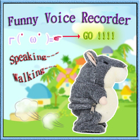 wholesale plush stuffed voice recorder toy animal speaking dancing walking plush funny hamster