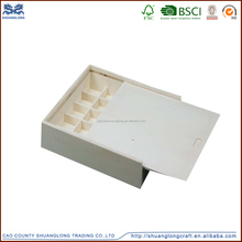High quality light weight plywood material small wooden sliding lid box , plywood box small