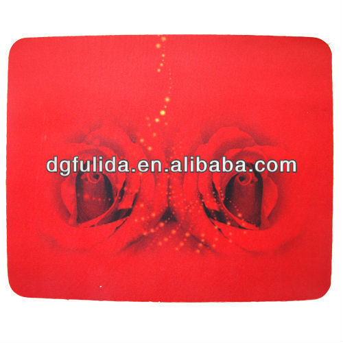 Fresh Red Rose Flower Mat Rubber Anti slip Mouse Pad