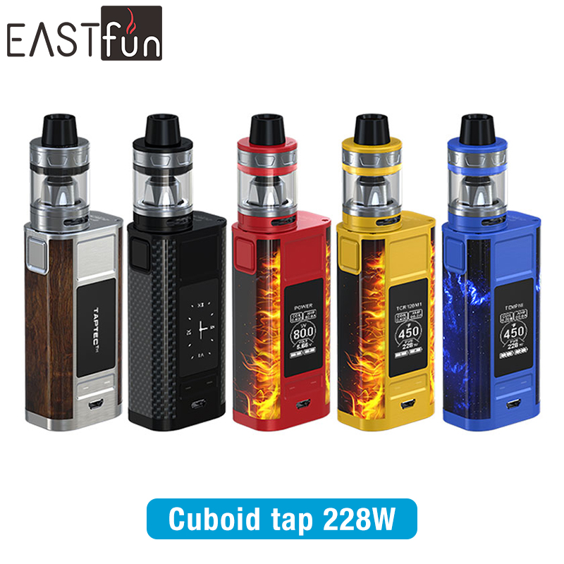 2017 New products Joyetech Cuboid TAP +ProCore Aries Atomizer ,228w Cuboid TAP vape box kit