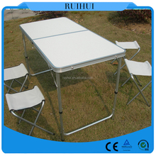 sale cheap used folding aluminum table and chairs