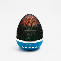 2017 Wireless portable egg shape colorful LED tumbler bluetooth speaker