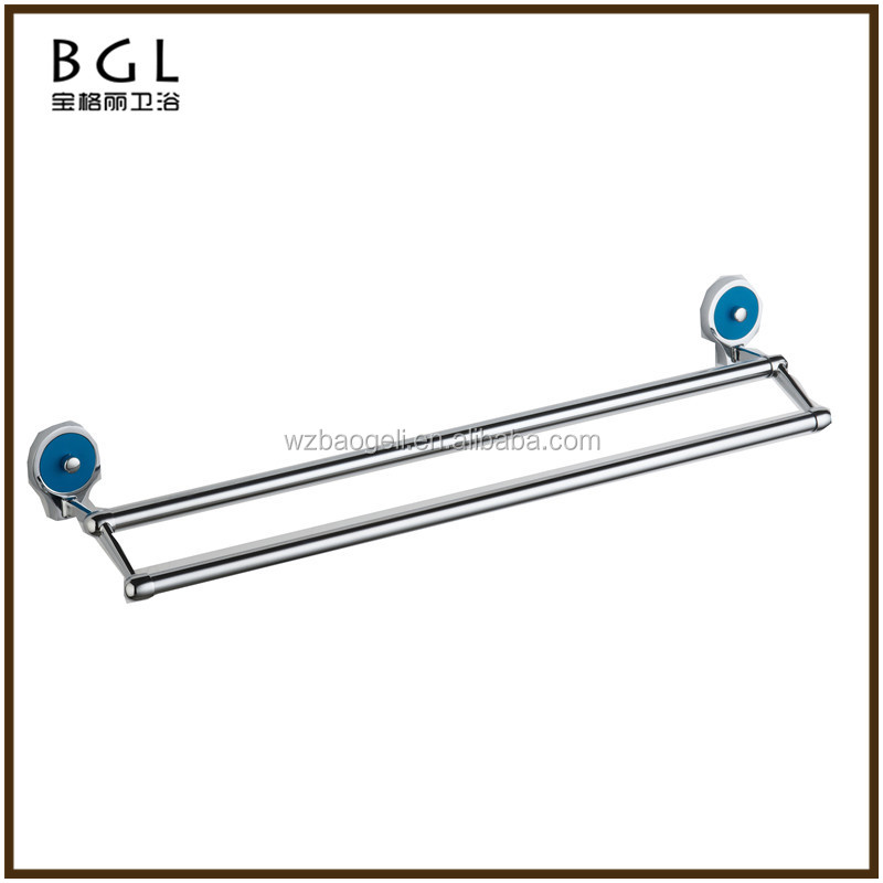 Classic From India Zinc Alloy Chrome Finishing Accessories For Bathroom Wall Mounted Double Towel Bars