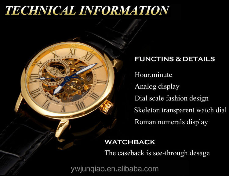 Winner Watches Skeleton Watches Mechanical Watches Men Clear luxury Brand Automatic