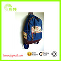 Wholesale beautiful girl multi-functional denim backpack