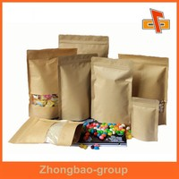 Package bag manufactory coffee packaging bags aluminium brown stand up foil pouches