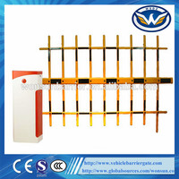 Three Fence Boom Remote Control Parking Lot Vehicle Barrier Gate
