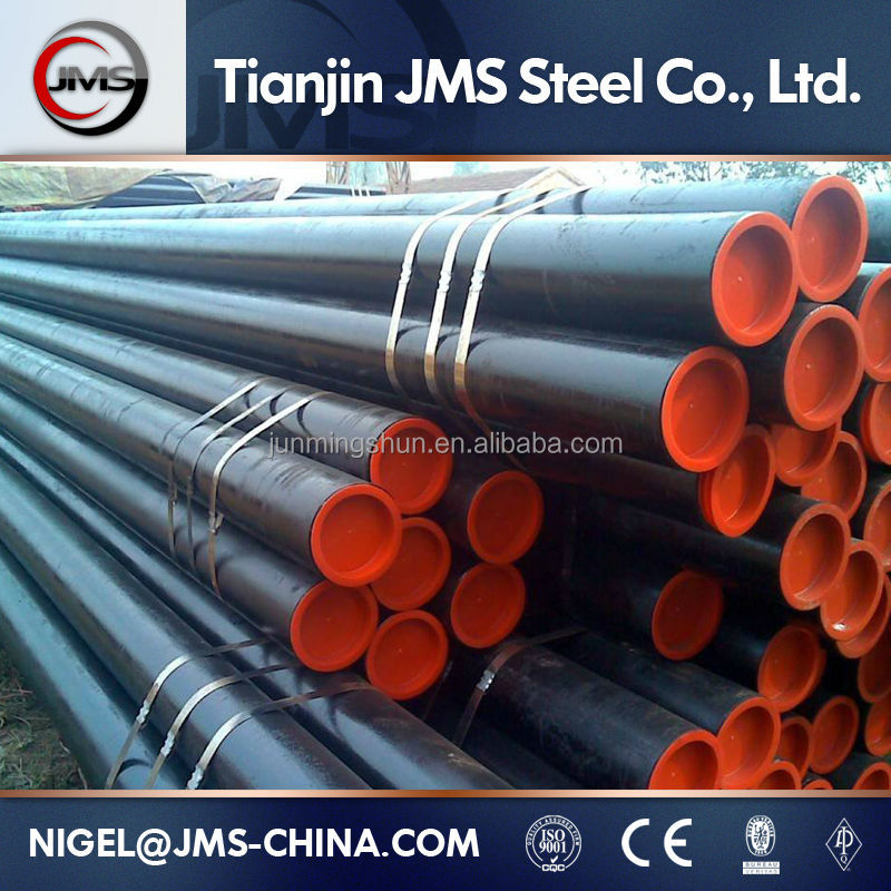 API 5L Hot Smoking Pipe / ERW Welded Carbon Steel Line Pipe Tube