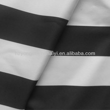 Stripe fabric black and white pu 3000mm