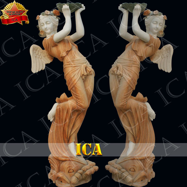 hand carving marble lady angel statue