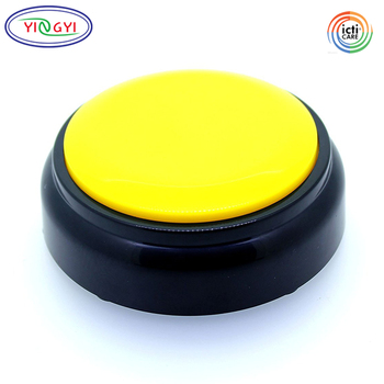 F709 Custom My Singing Plush Recordable Talking Button Round Plastic Cheap Mini Voice Recorder for Plush Toy