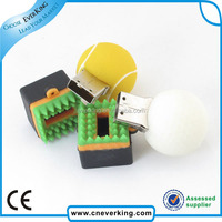 High quality soft pvc material and custom design usb flash drive