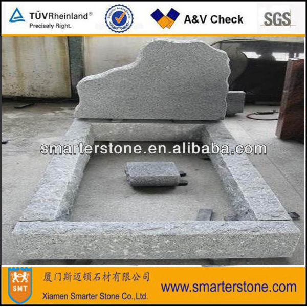 Light granite G603 tombstone