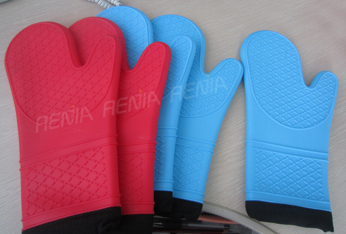 RENJIA colorful kitchen silicone cooking mitt colorful mitt kitchen good helper colorful oven mitt and potholder