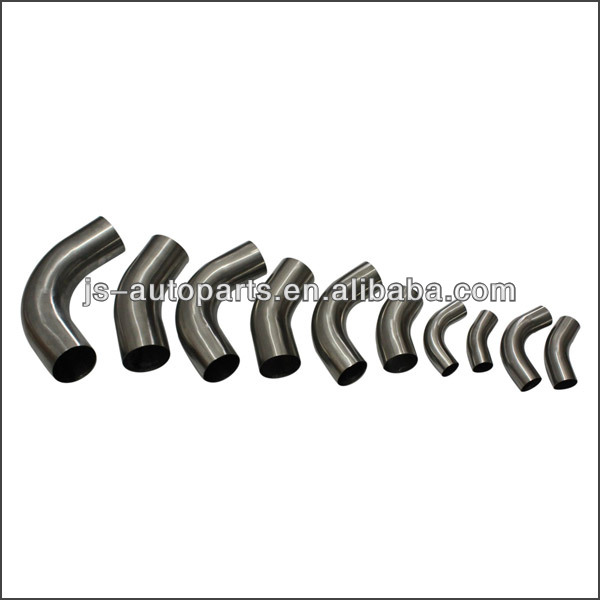 "63mm - 2.5"" OD 45 Degree Stainless Steel Exhaust Polished Pipe Tube Bend"