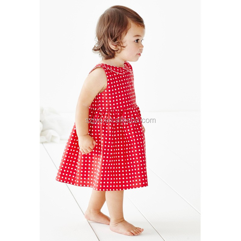 Bulk Cheap Factory Custom girls dress party birthday dress 1 year old girl child cotton pettidress