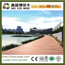 Bestselling wpc plank for garden swimming pool easy install wpc decking anti-uv wood plastic composite flooring