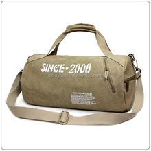 cylinder shape canvas waterproof sport gym duffel bag wholesale