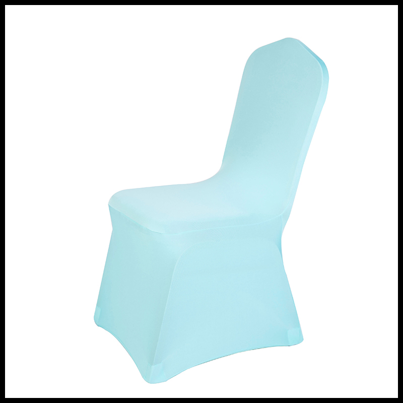 factory wholesale 160 GSM plain style cheap lycra spandex universal chair cover for wedding