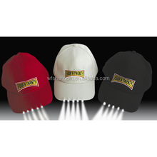 Promotional Wholesale Custom Bright Led Lighted Hat Baseball cap with Led Lights