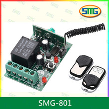 Gate wireless rf relay switch 433mhz ask transmitter receiver SMG-801
