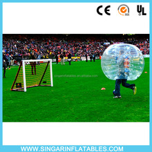 Wholesale Human size kick ball inflatable TPU bumping bubble ball exciting new sport