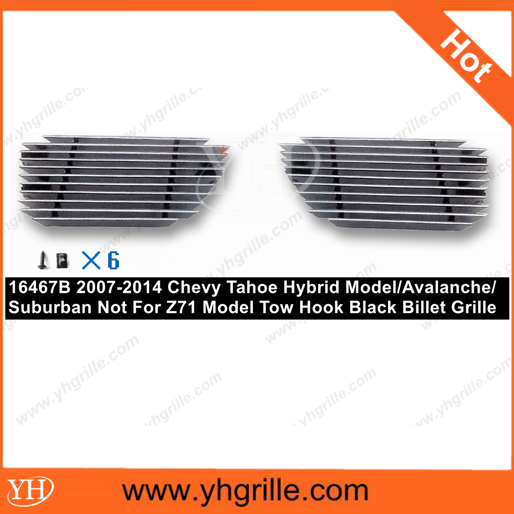 2007-2014 Chevy Tahoe/Chevy Avalanche Model/Chevy Suburban Tow Hook Black Aluminum Billet Grille