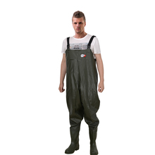 FW006 Anti-slip PVC waterproof chest waders With Boots