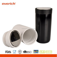 2015 New Style Stainless Steel Thermal Travel Mug With Big Button Lid