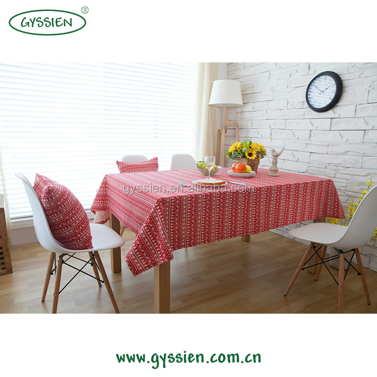 The Best Choice Jacquard Tablecloth Fabric 100% Cotton For Christmas Holiday