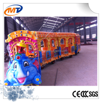 fiberglass trackless diesel road train christmas carnival games electrical train