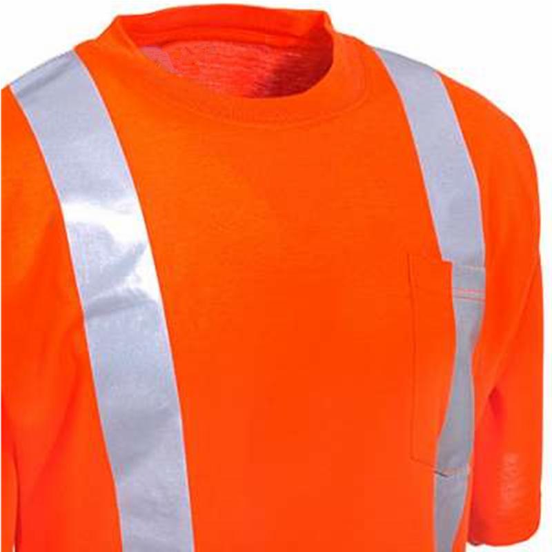 Hi vis oem service cheap high quality custom design short for Hi vis t shirts cotton