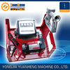 electric transfer pump unit with mechanical flow meter and delivery hose and fuel nozzle