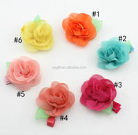 Chiffon Rose Flower Hairpin Kids Accessories Children Hair Accessories Baby Delicate Rose Hair Clip #F