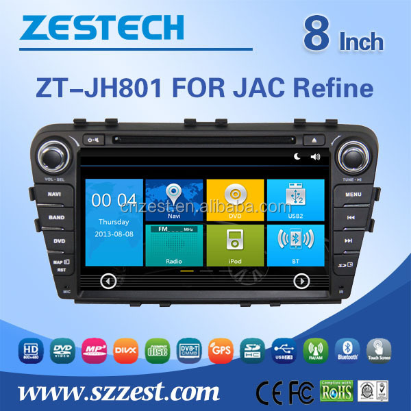 auto radio for JAC Refine S5 auto radio audio video player with TV 3G BT auto dvd gps navigation system
