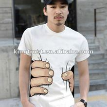 2016 catch you by hand white t shirt for men/funny t shirt