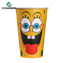 colorful plastic juice single double wall customized logo paper cup insert paper tumbler with straw and lid cover