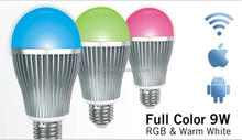 CE EMC LVD ROHS led appication bulb warm white/cool white rgb many color changing, many modes to changing scene led light bulb