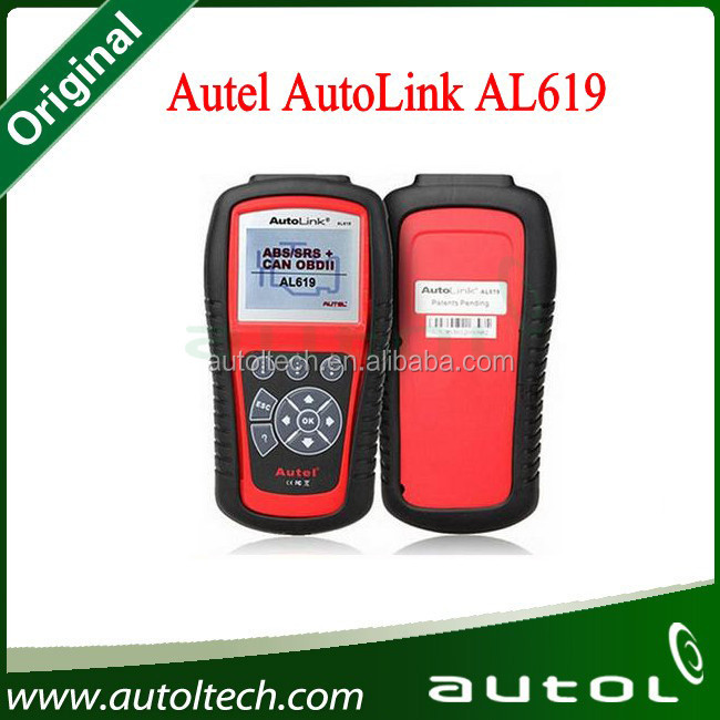Autel AL619 Scanner OBD II Tools AutoLink AL619 Automotive Scan Tools Check Engine Light Clears Codes