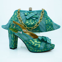 italian ladies shoes and matching bags in turkey blue