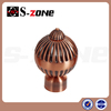 anti brass color top cap/head/ iron curtain final for iron curtain pipe