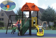 kids outdoor playground plastic slide and swing set