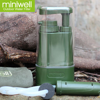 miniwell portable water filter for adventure water treatment