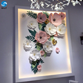 New product artificial wedding party window display decoration thanksgiving paper flowers decoration for sale