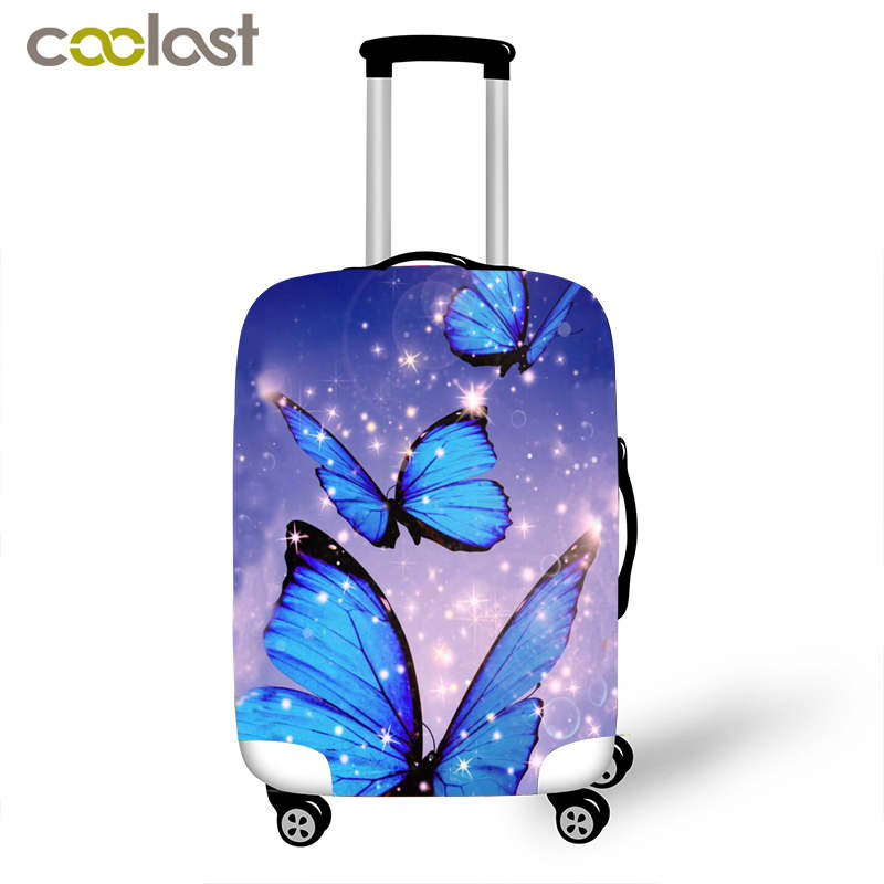 Women Butterfly Cover for Suitcase Girls Anti-Dust Travel Luggage <strong>Protective</strong> Covers Suitcase Cover