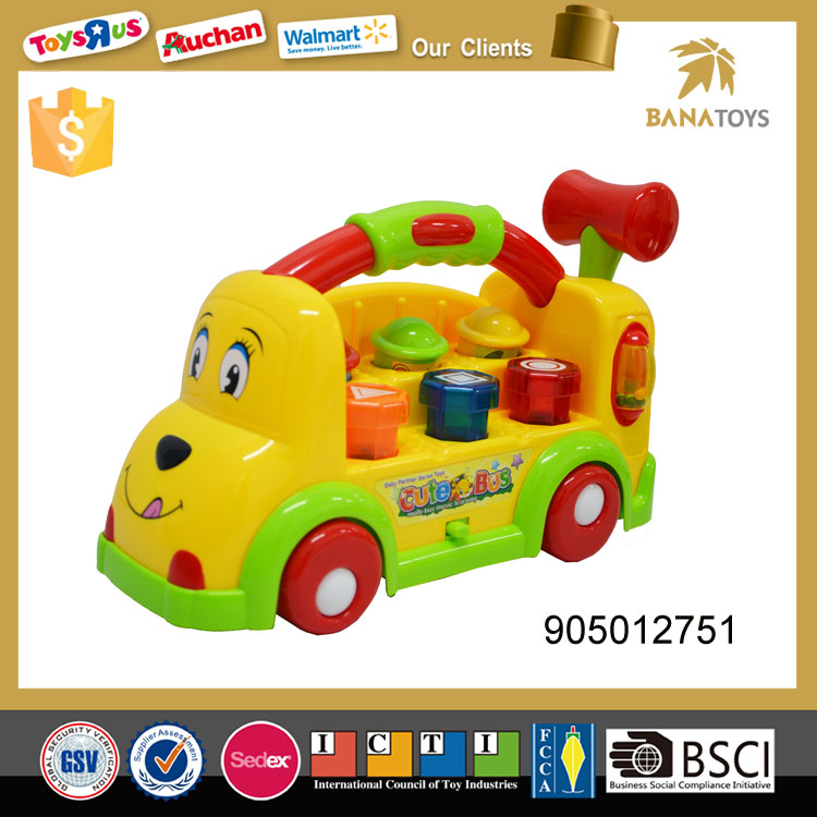 Battery operated toy car mini bus model