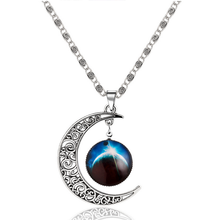 Free shipping 40% OFF HOT sale amazon fashion new jewelry Christmas gift moon and star pendant galaxy necklace