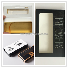 New Products Full color Magnetic Closure Eyelashes Packaging gift Box with Plastic Tray