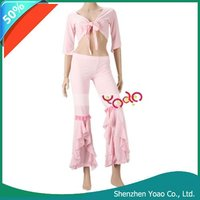 Modern Dance Apparel Belly Dance Practice Yoga Clothes Pink