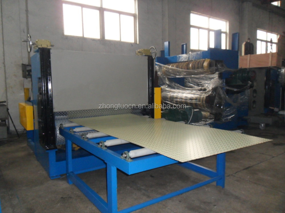 metal sheets embossing machine, steel embossing production line, stainless steel embossing equipment